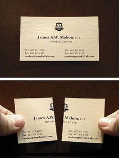 Clever Business Cards « THE FIRE WIRE