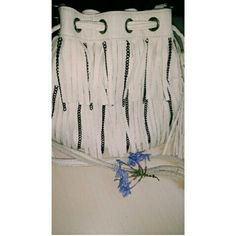 White fringe purse Wore several times. Good condition. All zippers work. Gun metal chains. Drawstring. Has a few minor markings on a few strands of fringe (but not noticeable unless someone were to inspect each & every strand?? ). Off white color. Faux leather. 4 compartments. Adjustable strap. No trades. Carlos Santana Bags Crossbody Bags