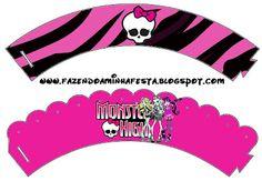 LARGE PRINTABLE SET- Monster High – Kit Completo com molduras para convites, rótulos para guloseimas, lembrancinhas e imagens! | Fazendo a Nossa Festa