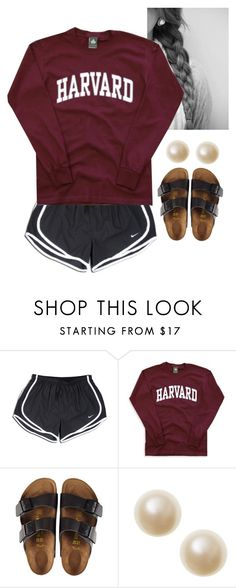"""""""Let go and let God"""" by classy-preppy-princess ❤ liked on Polyvore featuring NIKE and Birkenstock"""