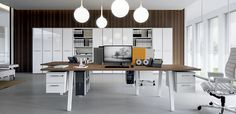 Italian workstation desks E-Place by Della Valentina office
