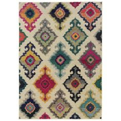 Found it at AllModern - Terrell Tribal Ivory/Multi Area Rug