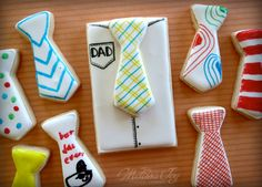 Father's Day Shirt and Tie Cookies