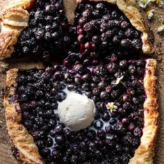 Blueberry Ricotta Chamomile Galette | halfbakedharvest.com #blueberries #summer #easyrecipes