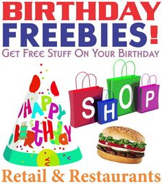 Getting free stuff on your birthday is SIMPLE! You need to prepare in advance and sign-up online with the restaurants and retail shops you want the freebies from. Many of the companies handing out the freebies (usually coupons and other Freebies On Your Birthday, Free On Your Birthday, Free Birthday Food, Birthday Rewards, Birthday Coupons, Birthday Stuff, Free Stuff By Mail, Get Free Stuff, Coupons For Free Items