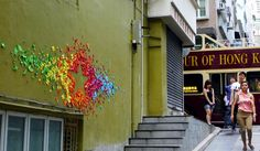 Urban Origami Installations on the Streets of Hong Kong and Vietnam by Mademoiselle Maurice