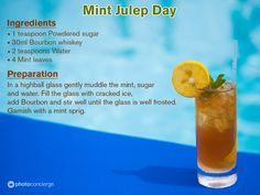 Its Mint Julep Day hence lets celebrate...Cheers! Try & Let us know if you liked it. :)