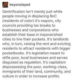 Gentrification explained.