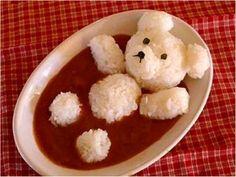 bain de tomate pour ourson en riz