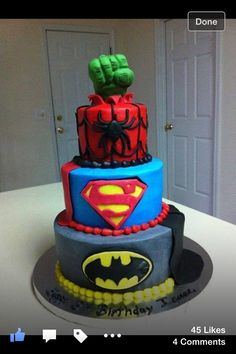 Cakes this with Captain America added