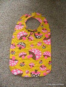 Making an Adult Clothing Protector (bib). Free pattern - thanks!
