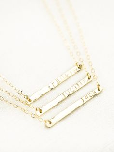 Ohana+necklace++gold+bar+necklace+gold+name+by+kealohajewelry,+$56,00