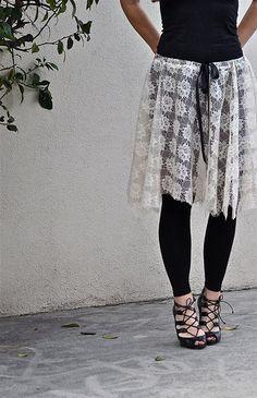 ...love Maegan | : Lace Ballet Skirt w/ Raw Edges DIY Fashion + DIY + Home + Lifestyle