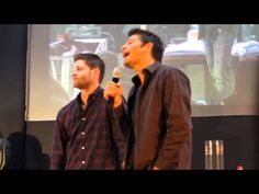 SPN: Jensen's reaction to Misha suggesting Dean's role be recast, with Misha playing the part instead.  Hilarity ensues.