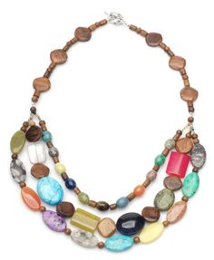 Tutorial - Ultra-Cool Mixed Gemstone . Good use for some wood beads in my stash!