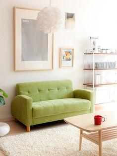 ⑪小さめ2人がけソファで、おうちカフェ、おうちデートがますます楽しく♪:一人暮らし女子 ほっこりインテリアスタイル ブログ:So-netブログ
