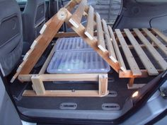 This clever idea could be adapted for SUV camping to level the folded seats. Ford Galaxy – Small Motorhome Camping Forum This clever idea could be adapted for SUV camping to level the folded seats. Minivan Camping, Truck Camping, Camper Beds, Car Camper, Mini Camper, Rideaux Camping-car, Minivan Camper Conversion, Kangoo Camper, Camping Accessories