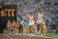 Great Britain's Sebastian Coe, number 359, wins the gold medal during the men's 1500 meter final at the 1984 Summer Olympics in Los Angeles. (Neil Leifer/Sports Illustrated)