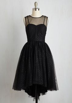 Flair to the Throne Dress. Enhance your majestic presence with this stately black dress! #black #prom #modcloth