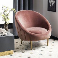 Looking for Safavieh Couture Home Razia Retro Glam Dusty Rose Pink Velvet Channel Tufted Tub Chair ? Check out our picks for the Safavieh Couture Home Razia Retro Glam Dusty Rose Pink Velvet Channel Tufted Tub Chair from the popular stores - all in one. Black Furniture, Shabby Chic Furniture, Cool Furniture, Modern Furniture, Rustic Furniture, Outdoor Furniture, Velvet Furniture, Furniture Outlet, Online Furniture