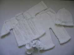 Knit Christening or Coming Home Baby Set Newborn on Etsy, $73.00