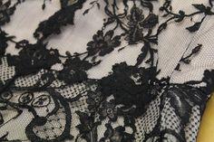 Detail - Black Lace dress by Alexander McQueen