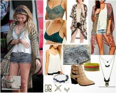 See how to copy Sarah Hyland's Boho Kimono/Shorts Oufit from the Modern Family set, on the cheap. Copycat Queen V - Affordable options to copy celebrity fashion, on a budget.  http://copycatqueenv.blogspot.com/2015/01/sarah-hyland-haley-dunphy-boho.html