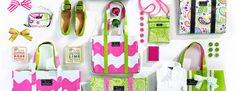 pink and green scout bags