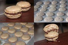 Macarons Noisettes Grillées & Nutella