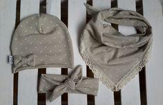 kompet wiosenny, chusta, opaska pin up - Lukrowane-Migdaly - Czapki dla dzieci