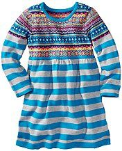 Fun Fair Isle Sweater Dress