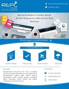 Rudrabhishek Infosystem Pvt. Ltd. provides high-quality web design services in India. We offer professional and custom web design services including mockup design, graphic UI design & ecommerce web designing India. http://www.replinfosys.com/web-development.aspx