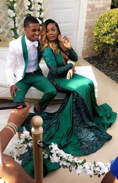Green Prom ✨ .  . . For More  ➡️Hair,Nails,And Style ✨ ➡️Hair,Nails,And Style  ➡️Hair,Nails,And Style ✨