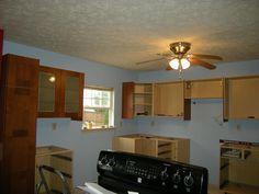 Kitchen Cabinets. Ikea Adel Medium Brown.