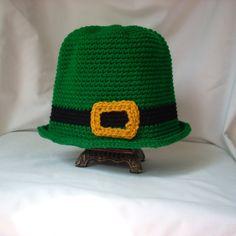 """Thanks for the kind words! ★★★★★ """"Thanks so much for all your help getting it to me so fast for our shoot!! Great hat worked perfectly! Thanks again!"""" Sharvin P. http://etsy.me/2FjE6ob #etsy #leprechaun #stpatricksday #FeatureFriday #childcrochethat #irishelf"""