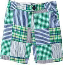Patchwork Shorts for my boys Toddler Boy Outfits, Toddler Boys, Baby Kids, Old Navy Kids, Summer Outfits, Cute Outfits, Maternity Wear, Patterned Shorts, Cute Babies