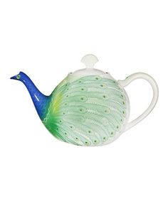 Look what I found on #zulily! Peacock 10.5'' Teapot, $20 !!   #zulilyfinds