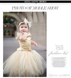 Princess Gold Flower Girl Dresses With Lace Straps Satin Bodice With Tulle Ball Gown Little Girl Dress Pageant Custom Made 2016 Hot Sale Online with $83.67/Piece on Brucesuit's Store | DHgate.com