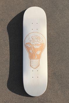 Skateboards Discover Laser engraved skateboards - Le Shape Custom skateboard with artwork from artist Broken isnt bad Cruiser Skateboard, Tony Hawk Skateboard, Custom Skateboard Decks, Painted Skateboard, Skateboard Deck Art, Custom Skateboards, Cool Skateboards, Skateboard Design, Skateboard Girl