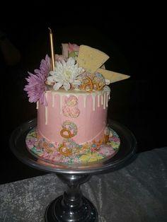 A Katherine Sabbath inspired drip cake. #dripcake  #katherinesabbath #smorescake #Birthday cake