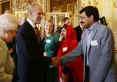 thebritishnobility:  Queen Elizabeth II and Prince Philip, Duke of Edinburgh meet Malala Yousafzai and her father Ziauddin during a Reception for Youth, Education and the Commonwealth at Buckingham Palace on October 18, 2013 in London, England.