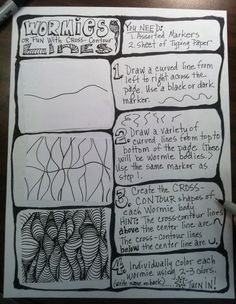 My Worksheet for Teaching Cross-Contour Line.