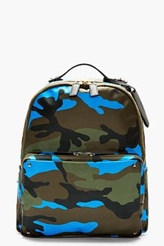 Valentino Olive Camo Backpack for men