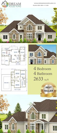 House Plans With Wrap Around Porch Basement Bedrooms 36 Ideas Southern House Plans, Country House Plans, Southern Homes, Luxury House Plans, Dream House Plans, House Floor Plans, Craftsman Cottage, Craftsman House Plans, Custom Home Plans