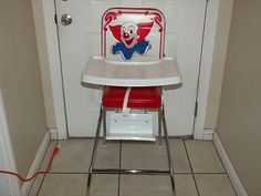 Vintage Bozo The Clown Baby High Chair by Comfort Lines | eBay