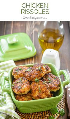 Lemon, Chicken & Parmesan Rissoles Recipe - this healthy and delicious spin on an old favourite is sure to delight. A great dinner option or burger alternative.