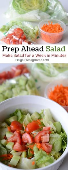 Learn how to prep a salad up to a week ahead without it getting soggy!