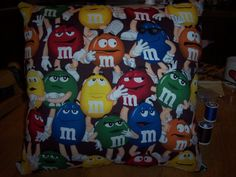 Handmade  M pillow  and stocking set back is by MawmaRosesCrafts, $23.00