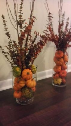 Cozy Rustic Fall Mantel Decoration Ideas You Can Apply For Your Living Room . Cozy Rustic Fall Mantel Decoration Ideas You Can Apply For Your Living Room room decorating ideas Decoration Christmas, Fall Mantel Decorations, Fall Centerpiece Ideas, Rustic Fall Centerpieces, Vase Ideas, Ramadan Decorations, House Decorations, Pumpkin Vase, Mini Pumpkins