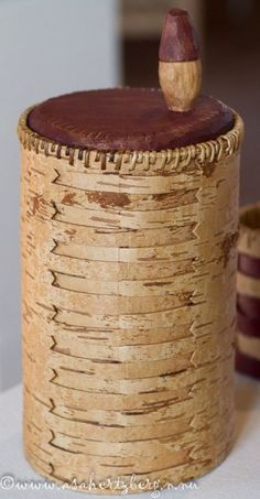 Birch Bark Crafts, Wooden Containers, Chip Carving, Pine Needles, Gourd Art, Natural Materials, Basket Weaving, Wood Furniture, Projects To Try